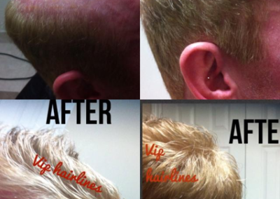 Blonde hair system with highlights