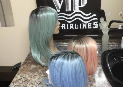 Heat friendly synthetic wigs